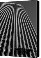 Washers Canvas Prints - Window Washers View - Black and White Canvas Print by Karol  Livote