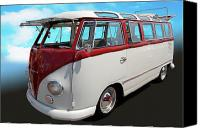 Kombi Canvas Prints - Window Window Canvas Print by Bill Dutting