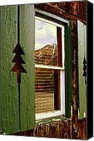 Cabin Window Canvas Prints - Window with a View  Canvas Print by The Forests Edge Photography - Diane Sandoval
