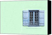 Shutters Canvas Prints - Window with copy space Canvas Print by Jane Rix