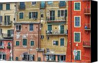 Balconies Canvas Prints - Windows of Camogli Canvas Print by Joana Kruse