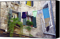 Alley Canvas Prints - Windows of Venice Canvas Print by Jeff Kolker