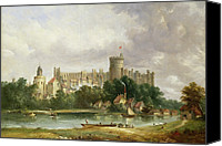 Windsor Canvas Prints - Windsor Castle - from the Thames Canvas Print by Alfred Vickers