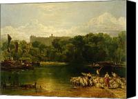 Windsor Canvas Prints - Windsor Castle from the Thames Canvas Print by Joseph Mallord William Turner