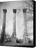Windsor Canvas Prints - Windsor Castle Ruins, Constructed Canvas Print by Everett