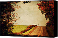 Fall Scenes Canvas Prints - Windy Journey Canvas Print by Emily Stauring
