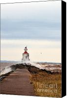 Lighthouse Pyrography Canvas Prints - Windy Point Canvas Print by Whispering Feather Gallery