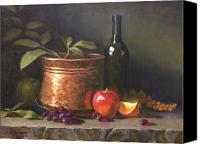 Oil Wine Canvas Prints - Wine and Copper Canvas Print by Cody DeLong