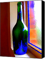 Bottles Canvas Prints - Wine Bottle Canvas Print by Chris Butler