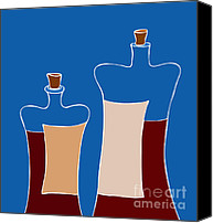 Bordeaux Canvas Prints - Wine Bottles Canvas Print by Frank Tschakert
