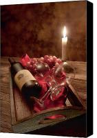 Wine Glass Photo Canvas Prints - Wine by Candle Light I Canvas Print by Tom Mc Nemar