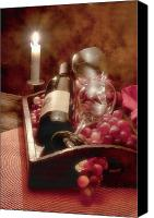 Wine Glass Photo Canvas Prints - Wine by Candle Light II Canvas Print by Tom Mc Nemar