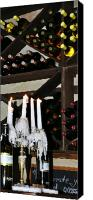 Burning Candles Canvas Prints - Wine by Candlelight Canvas Print by Rose  Hill