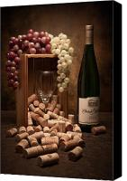 Glass Photo Canvas Prints - Wine Corks Still Life II Canvas Print by Tom Mc Nemar