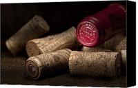 Still Life Photo Canvas Prints - Wine Corks Still Life IV Canvas Print by Tom Mc Nemar