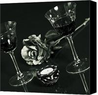 Wine Glass Photo Canvas Prints - Wine For Two Canvas Print by Joana Kruse