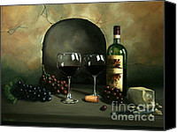 Paul Walsh Canvas Prints - Wine For Two Canvas Print by Paul Walsh