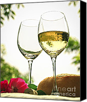 Bread Canvas Prints - Wine glasses Canvas Print by Elena Elisseeva