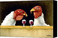 Turkey Painting Canvas Prints - Wine Goblets... Canvas Print by Will Bullas