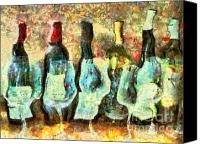 Marilyn Sholin Canvas Prints - Wine on the Town Canvas Print by Marilyn Sholin