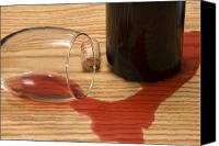 Spilled Wine Canvas Prints - Wine Spill Canvas Print by Charles Haire