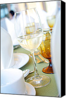 Wedding Preparation Canvas Prints - Wineglass Canvas Print by Atiketta Sangasaeng