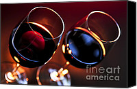 Wine Glass Photo Canvas Prints - Wineglasses Canvas Print by Elena Elisseeva