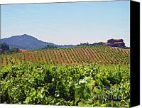Rural Scenes Mixed Media Canvas Prints - Winery Canvas Print by Jerry L Barrett
