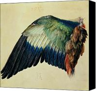Parrot Canvas Prints - Wing of a Blue Roller Canvas Print by Albrecht Durer