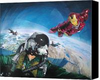 Ironman Canvas Prints - Wingman Canvas Print by Raoul Alburg