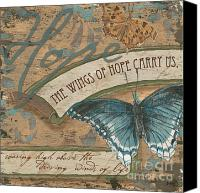 Aqua Canvas Prints - Wings of Hope Canvas Print by Debbie DeWitt