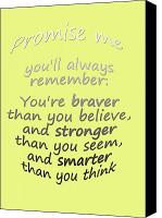 Childs Canvas Prints - Winnie the Pooh - Promise Me Canvas Print by Georgia Fowler