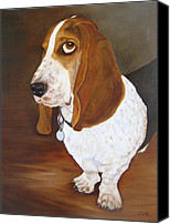 Pet Photography Painting Canvas Prints - Winston Canvas Print by Karen Zuk Rosenblatt