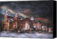 Clinton Photo Canvas Prints - Winter - Clinton NJ - Silent Night  Canvas Print by Mike Savad