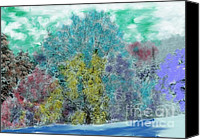 Sue Jenkins Canvas Prints - Winter Colors Canvas Print by Sue Jenkins