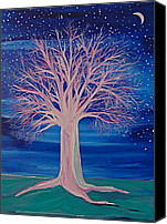 First Star Art By Jrr Canvas Prints - Winter Fantasy Tree Canvas Print by First Star Art
