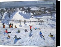 Sports Canvas Prints - Winter Fun Canvas Print by Andrew Macara