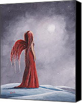 Winter Prints Painting Canvas Prints - Winter Gothic Fairy by Shawna Erback Canvas Print by Shawna Erback