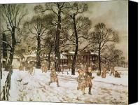 Kensington Drawings Canvas Prints - Winter in Kensington Gardens Canvas Print by Arthur Rackham
