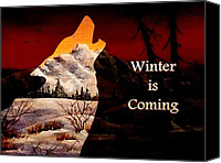 Sunset Mixed Media Canvas Prints - Winter is Coming Canvas Print by Anastasiya Malakhova