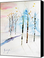 Kim Bird Canvas Prints - Winter Canvas Print by Kim Bird