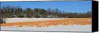 David Dunham Canvas Prints - Winter On The Tall Grass Prairie Canvas Print by David Dunham