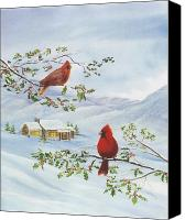 Rj Mcnall Canvas Prints - Winter Romance Canvas Print by RJ McNall