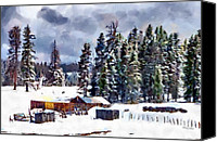 Ranches Canvas Prints - Winter Seclusion Canvas Print by Jeff Kolker