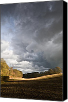 Ploughed Canvas Prints - Winter showers Canvas Print by Gary Eason
