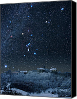 Snowy Night Canvas Prints - Winter Sky With Orion Constellation Canvas Print by Eckhard Slawik