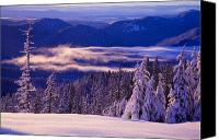 Mountain Scenes Canvas Prints - Winter Snow, Cascade Range, Oregon, Usa Canvas Print by Craig Tuttle