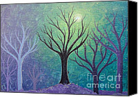 Lonesome Canvas Prints - Winter Solitude 3 Canvas Print by Jacqueline Athmann