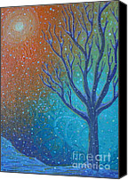 Lonesome Canvas Prints - Winter Solitude 8 Canvas Print by Jacqueline Athmann