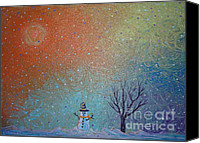 Lonesome Canvas Prints - Winter Solitude 9 Canvas Print by Jacqueline Athmann